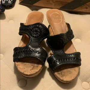 Worn Jack Rogers sandals. Imperfections noted